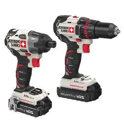 Porter-Cable 20V MAX Li-Ion Drill and Impact Driver Combo Ki