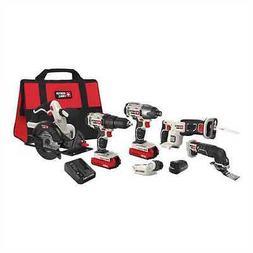 PORTER CABLE 20V MAX* Lithium 6 Tool Combo Kit - PCCK617L6