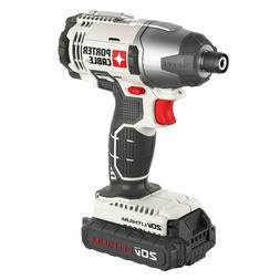"Porter Cable 20V Max Lithium Ion 1/4"" Impact Driver Kit  - P"