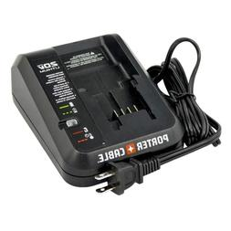Porter Cable Battery Charger PCC691L 20V Li-ion LED indicato