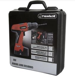 Power Drill 89-Piece 18 Volt Cordless Drill Set- With Charge