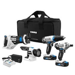 POWER TOOL SET Cordless Drill Impact Driver Saw LED Light St