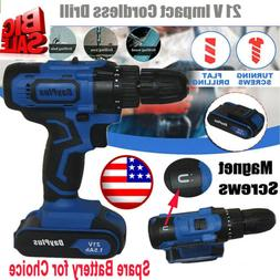 Power Tools 21v Cordless Combi Drill/Tail Hammer/Fast Charge