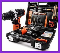 Power Tools Combo Kit W 16.8V Cordless Drill Set & 24Pcs Han