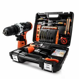 Power Tools Combo Kit with 16.8V Cordless Power Drill Set an