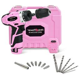 Pink Power PP121ID 12V Cordless Impact Drill Driver Tool Kit