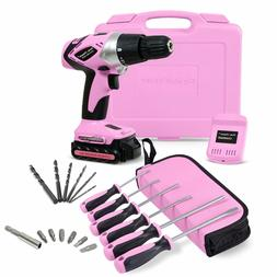 Pink Power PP181LI 18 Volt Lithium-Ion Cordless Electric Dri