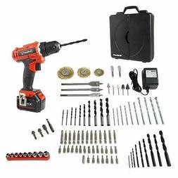 Professional 20V Cordless Drill Large Kit Driver Grinder Bit