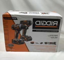 RIDGID R96021 18V Cordless Drill and Impact Driver Combo