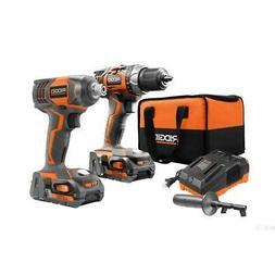 RIDGID R96021 18V Drill/Driver and Impact Driver Combo Kit