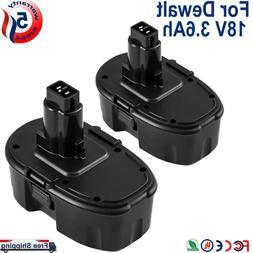 2-Replacement for Dewalt 18V Battery 18Volt 3.0Ah NI-MH DC90