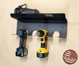 Wall Mount Drills Tools & Bits Holder Rack Storage DeWalt M