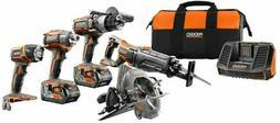 RIDGID TOOL COMPANY R9652 18V Tool Combo Kit  Orange