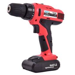 Variable Speed Cordless Drill Driver Li-Ion 3/8 Inch Chuck w