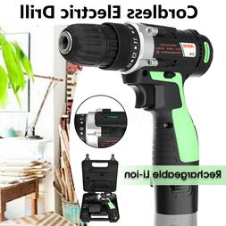 Wireless Cordless 3/8'' Electric Drill Kit 12 V Li-ion with