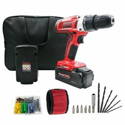 WORKSITE 18V Cordless Drill with 2 Pcs 1200 mAh Batteries, 2