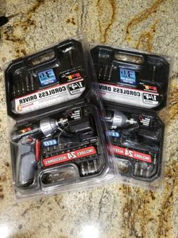 """YOU GET 2 Performance Tools W50033 1/4"""" Cordless Drivers 3.6"""